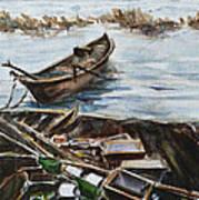 New England Wharf Art Print