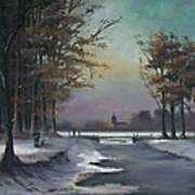 New England Winter Walk Art Print by Cecilia Brendel