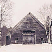 New Hampshire Barn In Black And White Art Print