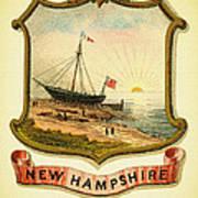 New Hampshire Coat Of Arms - 1876 Art Print