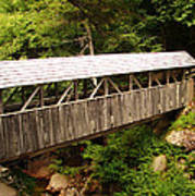New Hampshire Covered Bridge Art Print by Ella Char