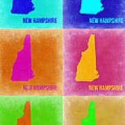 New Hampshire Pop Art Map 2 Art Print