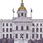 New Hampshire State Capitol Art Print