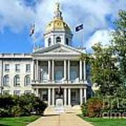 New Hampshire State Capitol Art Print