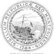 New Hampshire State Seal Art Print