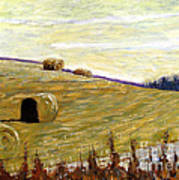 New Haybales Art Print by Charlie Spear