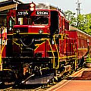 New Hope Ivyland Railroad With Cars Art Print