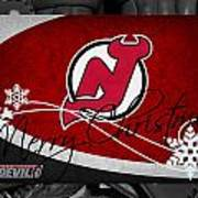 New Jersey Devils Christmas Art Print