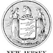 New Jersey State Seal Art Print