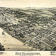 New Kensington Pennsylvania 1896 Art Print