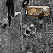 New Lock On Old Door 1 Art Print