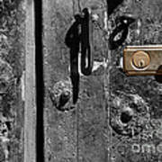 New Lock On Old Door 2 Art Print
