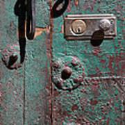 New Lock On Old Door 3 Art Print