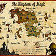 New Map Of The Kingdoms Of Magic Art Print