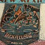 New Mexico Crescit Eundo Art Print
