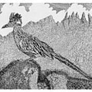 New Mexico Roadrunner Art Print