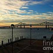 New Orleans Bridge Art Print