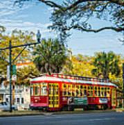 New Orleans - Canal St Streetcar 2 Art Print