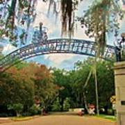 New Orleans City Park - Pizzati Gate Entrance Art Print