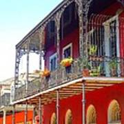 New Orleans French Quarter Architecture 2 Art Print