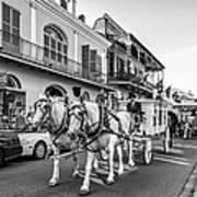 New Orleans Funeral Monochrome Art Print