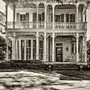 New Orleans Home - Paint Sepia Art Print