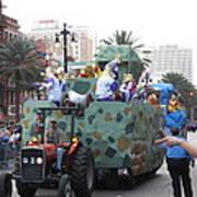 New Orleans - Mardi Gras Parades - 121214 Art Print