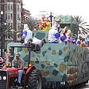 New Orleans - Mardi Gras Parades - 121215 Art Print
