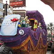 New Orleans - Mardi Gras Parades - 121228 Art Print