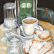 New Orleans Night Treat Art Print by Elaine Hodges