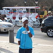 New Orleans - Street Performers - 12128 Art Print