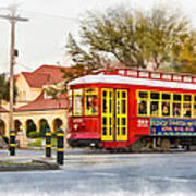 New Orleans Streetcar Paint Art Print