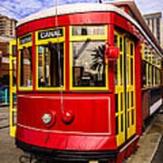 New Orleans Streetcar  Art Print by Paul Velgos