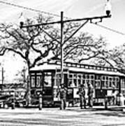 New Orleans Streetcar Silhouette Art Print