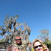New Orleans - Swamp Boat Ride - 121240 Art Print