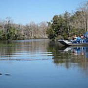 New Orleans - Swamp Boat Ride - 121289 Art Print
