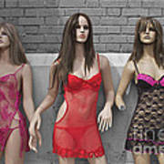 Sex Sells Mannequins In Lingerie In Downtown Los Angeles  Art Print
