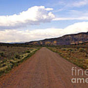 Red Road From The Benedictine Abbey Of Christ In The Desert New Mexico  Art Print