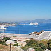 New Port Corfu Art Print