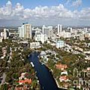 New River And Downtown Fort Lauderdale Art Print