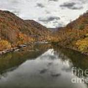 New River Fall Reflections Art Print