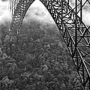 New River Gorge Bridge Black And White Art Print