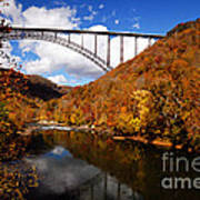 New River Gorge Bridge In Autumn Art Print