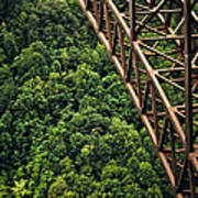 New River Gorge Bridge Steel Art Print