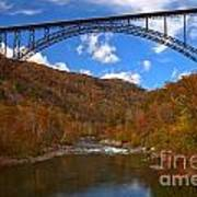 New River Gorge Fiery Fall Colors Art Print