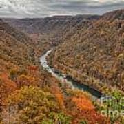 New River Gorge Overlook Fall Foliage Art Print