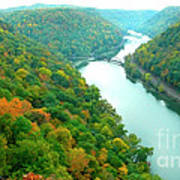 New River Gorge Viewed From Hawks Nest State Park Art Print