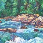 New River Fast Water Art Print