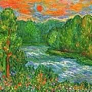 New River Rush Art Print