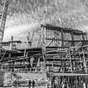Minnesota Vikings U S Bank Stadium Under Construction Art Print